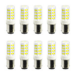 YWXLight® 10Pcs BA15D 5W 52LED 2835 SMD 400-500 Lm Cool White Warm White LED Lamp Double Bayonet  AC 220V / AC 110V