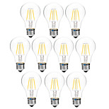 4W LED лампы накаливания A60(A19) 4 COB 300 lm Тёплый белый Белый Диммируемая V 10 шт.
