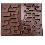 1 Piece Note Cake Mold 3D Cartoon For Candy For Pudding Ice Chocolate Silicone Birthday Holiday 19.4x12x1.1cm(7.63x4.72x0.43INCH)