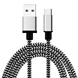 Capshi Phone USB cable  USB 2.0 Type C Braided Cable For Samsung Huawei Sony Nokia HTC Motorola LG Lenovo Xiaomi 100cm Textile