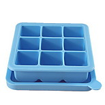 Silicone Baby Frozen Box Storage Preservation Ice lattice Sealed With A Cover Food Compartment