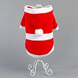 Собака Костюмы Одежда для собак Для вечеринки Сохраняет тепло Рождество Сплошной цвет