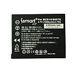 Ismartdigi New S007 3.7V 1000mAh Camera Battery for Panasonic S007 S007E TZ1 TZ4 TZ5 TZ11 TZ15 BCD10