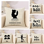 Set Of 6 The Beatles Band Printing Pillow Cover Classic Pillow Case 45*45Cm Sofa Cushion Cover