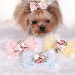 Dog Hair Accessories Dog Clothes Cute Casual/Daily Bowknot Blushing Pink Blue Yellow