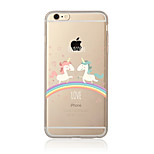Étui pour iphone 7 7 plus un motif de licorne tpu doux back-cover cartoon pour iphone 6 plus 6s plus iphone 5 se 5s 5c 4s
