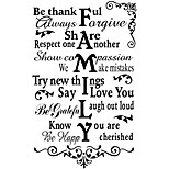 Be Thankful Quote Wall Stickers Be Happy English Words Vinyl Wall Decals Vine Flower Sticker Home Decor For Family Kids Room