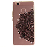 For HUAWEI P8 P9 Case Cover Half Flower Pattern HD Painted Drill TPU Material IMD Process High Penetration Phone Case P10 Lite (2017) Y5II Y6II