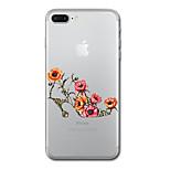 Для iphone 7 плюс 7 чехол для крышки прозрачный узор задняя крышка чехол цветок мягкий tpu для iphone 6s плюс 6s 6 плюс 6 5s 5 se