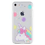 Назначение Чехлы панели С узором Задняя крышка Кейс для единорогом Сияние и блеск Мягкий Термопластик для AppleiPhone 7 Plus iPhone 7