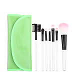 7pcs Green Makeup Brush Set Blush Brush Eyeshadow Brush Eyeliner Brush Eyelash Brush dyeing Brush Powder Brush Sponge Applicator Synthetic Hair