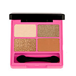 1Pcs Shimmer Matte Eyeshadow Palette Glitter Eye Shadow Glow Kit With Mirror Brush Makeup Lasting Shine Chic Finish