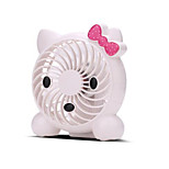 New Cartoon Fashion USB Mini Fan Student Office Computer Fan Built-in 18650 Rechargeable Small Fan