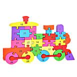 Jigsaw Puzzles DIY KIT Building Blocks DIY Toys Train Wooden