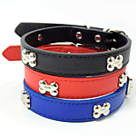Creative Fashion Bone Style PU Pet Collar Small Cat Dog Collars Dog Harness Christmas Accessories