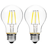 2pcs BRELONG Dimming A60 E27 6W 6LED 300LM Antique Filament Lamp Warm White / White AC22OV Transparent Bulb Light