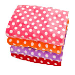 Dog Bed Pet Blankets Polka Dot Keep Warm Double-Sided Soft Blushing Pink Ruby Purple Orange