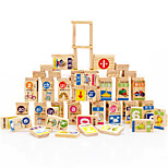 Building Blocks For Gift  Building Blocks Natural Wood 3-6 years old Toys