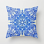 1 Pcs Blue And White Porcelain Style Printing Pillow Cover Classic Cotton/Linen Pillow Case