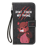For Huawei P10 Lite  P8 Lite(2017) Case Cover Card Holder Wallet with Stand Flip Pattern Full Body Case Bear Hard PU Leather for P8 Lite P9 Lite