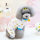 Dog Clothes/Jumpsuit Dog Clothes Cute Cartoon Yellow Blue