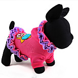 Dog Coat Tie/Bow Tie Dog Clothes Cute Classic Fashion Casual/Daily Cartoon Blushing Pink Purple