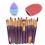 20pcs Eye Brush Purple Gold &Small Liquid Latex Water Droplet Puff &Makeup Brush Eggs