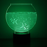 Christmas Fish Tank Touch Dimming 3D LED Night Light 7Colorful Decoration Atmosphere Lamp Novelty Lighting Christmas Light