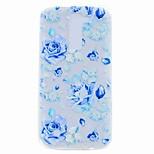For LG K10 K8 Case Cover Translucent Pattern Back Cover Case Blue Rose Soft TPU for LG G6 V20 X Power