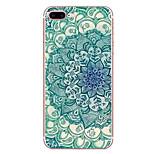 Для яблока iphone 7 7 плюс 6s 6 плюс чехол чехол синий и белый узор hd покрашенный tpu материал мягкий чехол для телефона