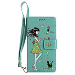 For Sony Xperia XZ XA Ultra Phone Case PU Leather Material Woman and Cat Pattern Luminous Phone Case Z5
