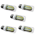 5PCS 5W E27 LED Corn Lights  80 SMD 5730 1000 lm Warm White /White AC 220-240V No strobe