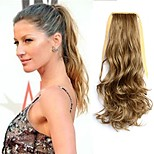 Human Hair Extensions Flaxen Length 50CM Factory Direct Sale Bind Type Curl Horsetail Hair Ponytail