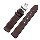 For Huawei B2-15mm Connector B3-16mm Connector MSTRE Watch Band Strap Solid color Leather Butterfly Buckle