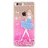 Case for apple iphone 7 7 плюс сексуальная леди сердце блеск сияние картина текущая жидкость жесткий ПК 6 с плюс 6 плюс 6 с 6