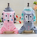 Other Shirt / T-Shirt Clothes/Jumpsuit Dog Clothes Cute Casual/Daily Animal Blushing Pink Green