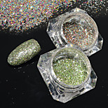 2bottles/set 0.2g/bottle Fashion Galaxy Starry Effect Nail Art Platinum Glitter Power Gorgeous DIY Shining Decoration BG21&22