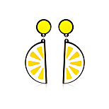 Naisten Pisarakorvakorut Korut Pyöreä Uniikki Akryyli Tee se itse Viktoriaaninen Statement-korut söpö tyyli Käsintehty AkryyliGeometric