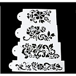 4Piece/Set Wedding Cake Spray Pattern Decorating Tool For Cake Plastics Baking Tool DIY