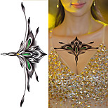 1PC New Chest Tattoo Stickers Large Flower Shoulder Arm Sternum Tattoos Sexy Women