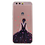 For Huawei P10 P10 Lite Phone Case Sexy Girl Pattern Soft TPU Material Phone Case P10 Plus P8 Lite (2017)