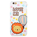 For Apple iPhone 7 7Plus Case Cover Pattern Back Cover Case Lion  Animal Cartoon Word / Phrase Hard PC 6s Plus  6 Plus 6s 6 5s 5