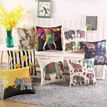 1 Pcs Classic Elephant Printing Pillow Case 8 Design Vintage Elephant Pillow Cover Cotton/Linen
