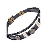 Men's Leather Bracelet Jewelry Natural Fashion Leather Alloy Irregular Jewelry For Special Occasion Gift Sports