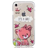 Для яблока iphone 7 плюс 7 любовь кошка модель случае задняя крышка чехол мягкий tpu для iphone 6s плюс 6 плюс 6s 6 5 5s se