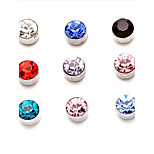 Single SideMagnet Circle Round Stud Earring Stainless Steel Magnetic Ear Studs No Piercing