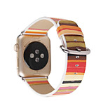 For Apple Watch Series 2 1 Replacement Band Strap Genuine Leather Colorful Stripes Strap