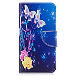 For Huawei P10 Lite P8 Lite (2017) Phone Case PU Leather Material Yellow Butterfly Pattern Painted P10 P9 Lite P9 Y5 II Honor 6X