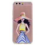 For Huawei P10 P10 Lite Phone Case Fashion Sexy Girl Pattern Soft TPU Material Phone Case P10 Plus P8 Lite (2017)
