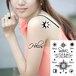 5Pcs/Lot  Temporary Tattoo Body Art Flash Tattoo Sticker Waterproof Fake Tatoo Henna Painless Tattoo Sticker